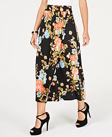 Thalia Sodi Floral-Print Wrap Maxi Skirt, Created for Macy's