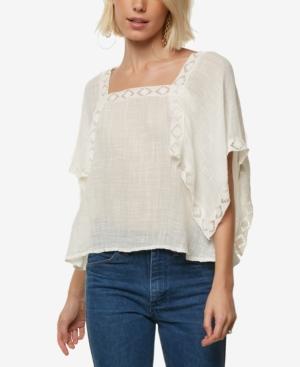 Women's 70s Shirts, Blouses, Hippie Tops ONeill Juniors Talei Crochet-Trim Kimono Top $40.50 AT vintagedancer.com