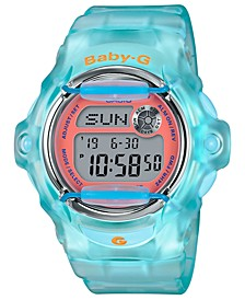 Women's Digital Blue Jelly Strap Watch 42.6mm