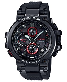 G-Shock Men's Solar Analog-Digital Black Resin Strap Watch 51.7mm