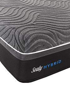 "Sealy Silver Chill 14"" Hybrid  Plush Mattress- Queen"
