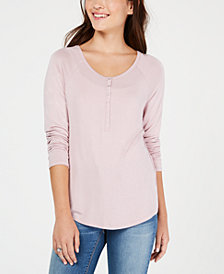 Hippie Rose Juniors' Scoop-Neck T-Shirt