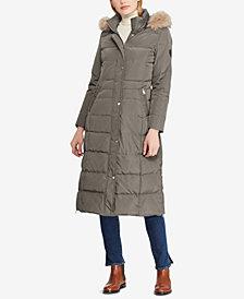 Lauren Ralph Lauren Faux-Fur Hooded Down Maxi Puffer Coat