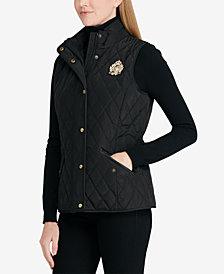Lauren Ralph Lauren Faux-Leather-Trim Vest