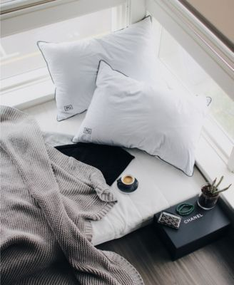 White Down Side & Back Sleeper Overstuffed Pillow Certified RDS, Set of 2 - Standard/Queen