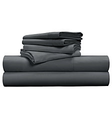 Luxe Soft & Smooth TENCEL™ 6-Piece Sheet Set - Charcoal / Cal King Size