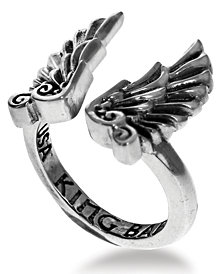 King Baby Eagle Wing Cuff Ring in Sterling Silver