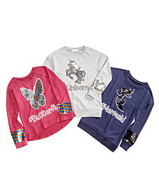 Beautees Big Girls Reversible Sequin Sweatshirts