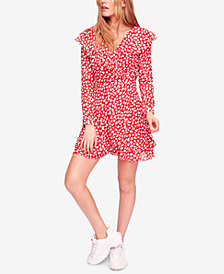 Free People Frenchie Faux-Wrap Printed Dress