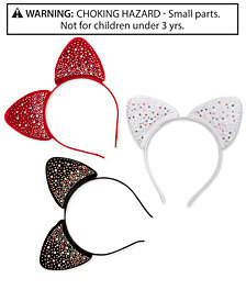 On the Verge Little & Big Girls 3-Pk. Embellished Velvet Headbands Set