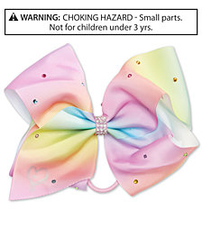 On the Verge Little & Big Girls JoJo Siwa Embellished Rainbow-Print Hair Bow