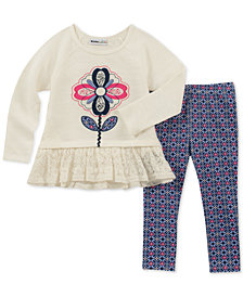 Kids Headquarters Little Girls 2-Pc. Tunic & Printed Leggings Set