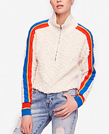 Free People Fuzzy Striped Sweater