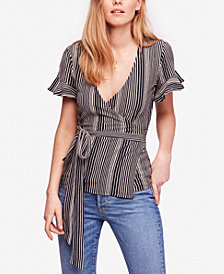 Free People Wrapped Around My Finger Cotton Striped Top