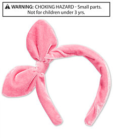 On the Verge Little & Big Girls Velvet Knot-Bow Headband