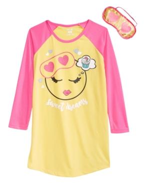 Max  Olivia Little  Big Girls Sweet Dreams Graphic Nightgown  Eye Shade