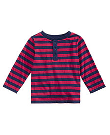 First Impressions Baby Boys Striped Henley, Created for Macy's