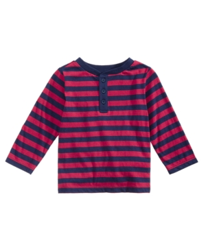 First Impressions Baby Boys Striped Henley Created for Macys