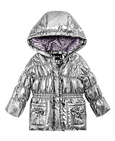 S Rothschild & CO Baby Girls Metallic Hooded Jacket