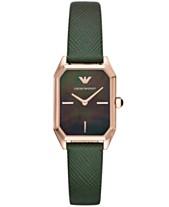 acd3c1bf88fb Emporio Armani Women s Green Leather Strap Watch 24x36mm