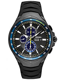 LIMITED EDITION Men's Solar Coutura Jimmie Johnson Special Edition Black Silicone Strap Watch 45.5mm