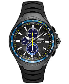 LIMITED EDITION Seiko Men's Solar Coutura Jimmie Johnson Special Edition Black Silicone Strap Watch 45.5mm