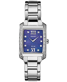 Women's Solar Diamond Collection Diamond-Accent Stainless Steel Bracelet Watch 24mm