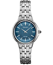 Seiko Women's Solar Essentials Stainless Steel Bracelet Watch 29mm