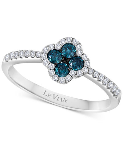 Le Vian Exotics® Diamond Floral Ring (3/8 ct. t.w.) in 14k White Gold