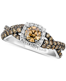 Le Vian Chocolatier® Diamond Halo Ring (1-1/8 ct. t.w.) in 14k White Gold