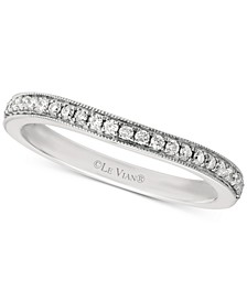 Bridal® Diamond Beaded Edge Band (1/5 ct. t.w.) in 14k White Gold