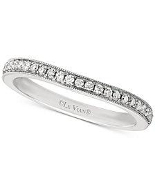 Le Vian Bridal® Diamond Beaded Edge Band (1/5 ct. t.w.) in 14k White Gold