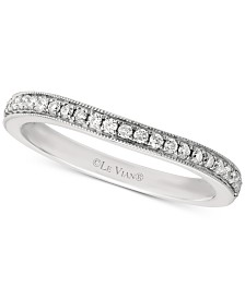 Le Vian Bridal® Diamond Beaded Edge Band (1/5 ct. t.w.) in 14k White Gold