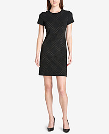 Tommy Hilfiger Embellished Scuba Shift Dress