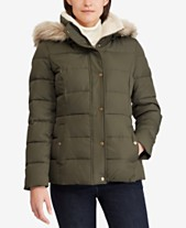 259d8374a6 Lauren Ralph Lauren Faux-Fur Quilted Down Coat
