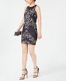 Adrianna Papell Beaded Sequin Blouson Dress
