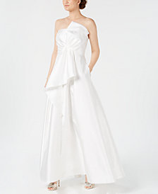 Adrianna Papell Mikado Strapless Bow Gown