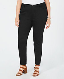 Style & Co Plus Size Straight-Leg Pants, Created for Macy's