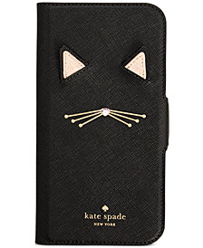 kate spade new york Cat Applique iPhone X Folio Case
