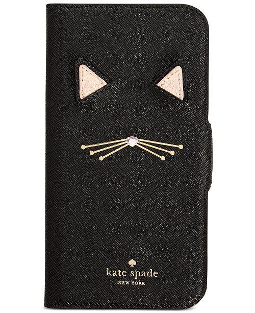 ff4f825ba kate spade new york Cat Applique iPhone X Folio Case & Reviews ...
