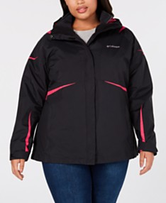 6ee04296 Columbia Plus Size Blazing Star Waterproof Fleece Lined 2 in 1 Jacket