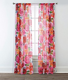 Sara B Santa Monica Printed Sheer Curtain Panel Set, 95 in