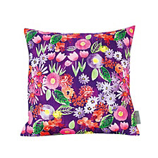 Sara B Spring Flowers Square Accent Pillow