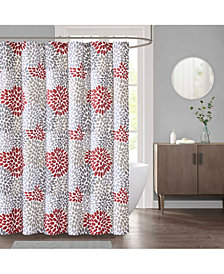 """Décor Studio Delilah 72"""" x 72"""" Faux-Linen Shower Curtain"""