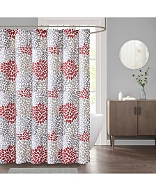 "Décor Studio Delilah 72"" x 72"" Faux-Linen Shower Curtain"