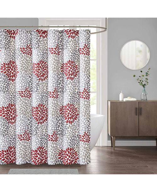 JLA Home Delilah 72 X Faux Linen Shower Curtain