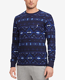 Polo Ralph Lauren Men's Waffle-Knit Beacon Print Cotton Crew-Neck T-Shirt