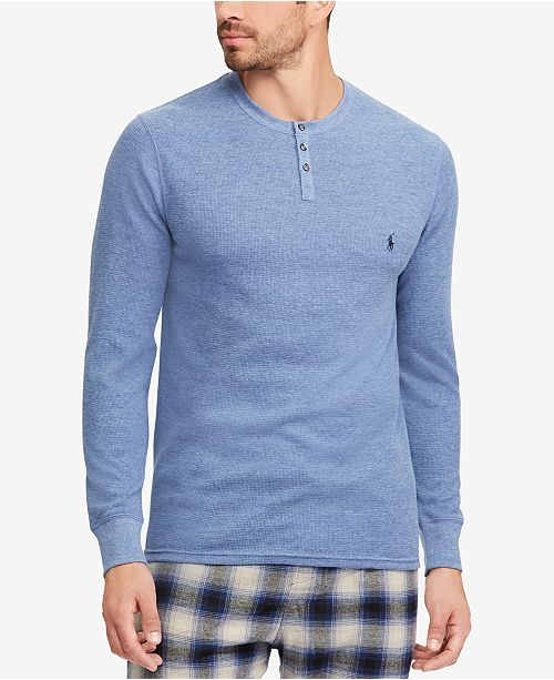 8ca4ab249ec Polo Ralph Lauren Men s Waffle-Knit Henley Thermal   Reviews ...