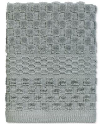 Checkerboard Cotton Terry Jacquard Washcloth