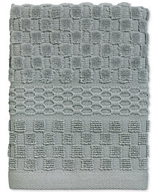 Avanti Checkerboard Cotton Terry Jacquard Washcloth
